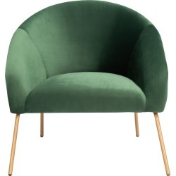 Safavieh Mandi Green Velvet Accent Chair found on Bargain Bro Philippines from Ruelala for $439.99