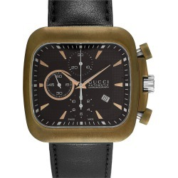 Gucci Men's Leather Watch found on Bargain Bro Philippines from Gilt City for $1399.99