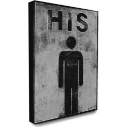 Stupell Home Decor His Distressed Bathroom Sign