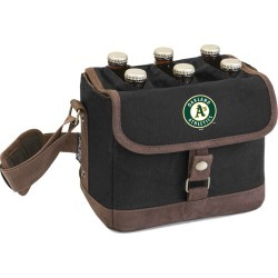 Legacy Beer Caddy' Cooler Tote with Opener with Oakland Athletics Digital Print