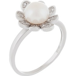 Splendid Pearls Silver 7-8mm Freshwater Pearl Ring found on Bargain Bro India from Gilt City for $19.99
