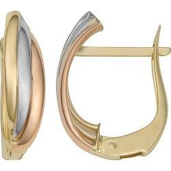10K Italian Gold Tri-Color Hoops