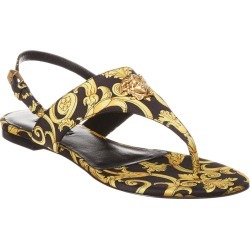 Versace Baroque Print Satin Sandal found on Bargain Bro India from Gilt for $449.99