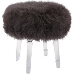Imax Worldwide Home Airell Tibetan Fur & Acrylic Stool