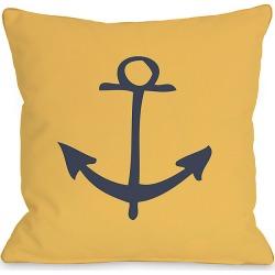"One Bella Casa ""Vintage Anchor"" Decorative Pillow"