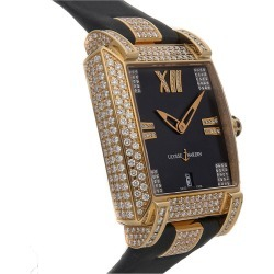 Ulysse Nardin Women's Leather Diamond Watch found on MODAPINS from Gilt for USD $29489.00