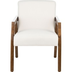 Safavieh Olyvar White Arm Chair found on Bargain Bro Philippines from Ruelala for $264.99