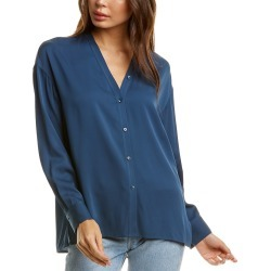 Vince Trapunto V-Neck Silk-Blend Blouse found on Bargain Bro India from Gilt City for $145.99