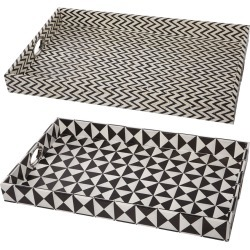 A & B Home Set of 2 25in Rectangular Trays found on Bargain Bro Philippines from Gilt City for $89.99