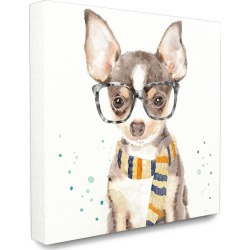Stupell The Stupell Home Decor Collection Hipster Chihuahua Puppy With Glasses And Scarf Watercolor found on Bargain Bro India from Ruelala for $39.99