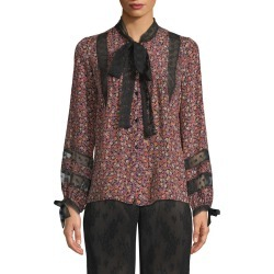 Anna Sui Woodland Flowers And Dot Mesh Blouse found on MODAPINS from Gilt for USD $109.99