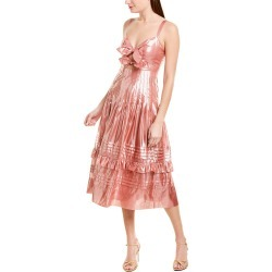 Rebecca Taylor Metallic Bow Silk-Blend A-Line Dress found on Bargain Bro India from Ruelala for $99.99
