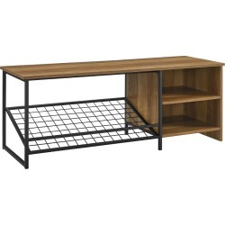 48in Industrial Entry Bench with Shoe Storage