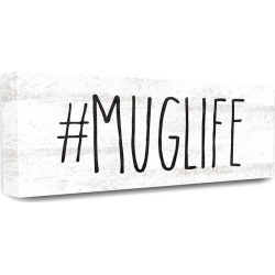 Stupell Hashtag Mug Life Black and White Typography found on Bargain Bro Philippines from Ruelala for $39.99