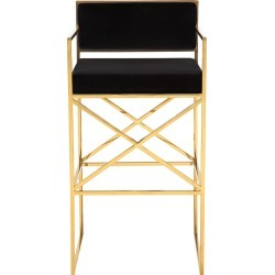 Safavieh Couture Kian Velvet Directors Stool found on Bargain Bro from Gilt for USD $379.99