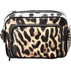 Burberry Small Animal Print Leather Camera Bag