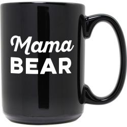Susquehanna Glass Mama Bear Etched Black Mug