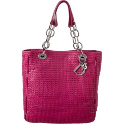 Dior Limited Edition Pink Woven Medium Lady Dior found on Bargain Bro India from Gilt City for $1799.00