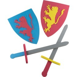 Foam Sword & Shield for Kids by Hey! Play!