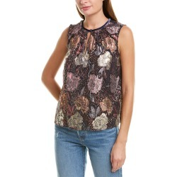 Rebecca Taylor Rose Clip Silk-Blend Top found on Bargain Bro India from Ruelala for $109.99