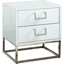 Verlaine Nova White Side Table