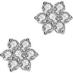 Genevive Silver Stud Earrings