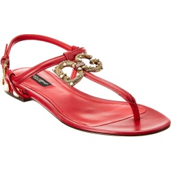 Dolce & Gabbana Logo Leather Sandal found on Bargain Bro Philippines from Ruelala for $699.99