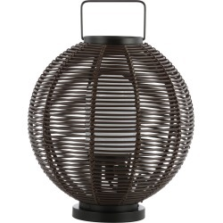 Jonathan Y Jigu 22in Outdoor Woven Globe Asian LED Lantern found on Bargain Bro India from Ruelala for $179.99
