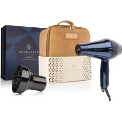 Exclusive Edition 1875 Watt Professional Hair Dryer with 3 piece Nozzle and Leather Tote Carrying Bag Salon Bundle