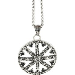 Dell Arte Stainless Steel Wheel of Karma Necklace found on Bargain Bro Philippines from Gilt for $29.99