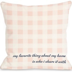 "One Bella Casa ""Favorite Thing"" Decorative Pillow"
