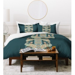 Deny Designs Holli Zollinger Chateau Peacock Duvet Cover Set found on Bargain Bro India from Gilt for $189.99