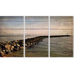 Rock Path Ocean Planked Look Photography by Kimberly Allen found on Bargain Bro Philippines from Gilt for $69.99
