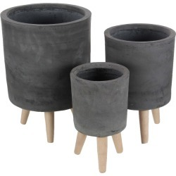 Planters w/ 3-Pronged Stands