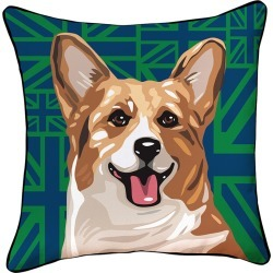 Naked Decor Pooch Decor Corgi Pillow found on Bargain Bro India from Gilt for $35.99