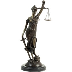 Bey-Berk Bronze Lady Justice Sculpture found on Bargain Bro India from Gilt for $279.99