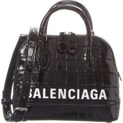 Balenciaga Ville XXS Croc-Embossed Leather Top Handle Tote found on Bargain Bro Philippines from Gilt for $1429.99