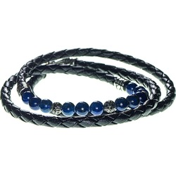 Dell Arte Lapis Leather Wrap Bracelet found on Bargain Bro Philippines from Ruelala for $29.99