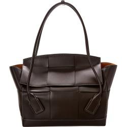 Bottega Veneta Acro 56 Fold-Over Maxi Intrecciato Leather Shoulder Bag