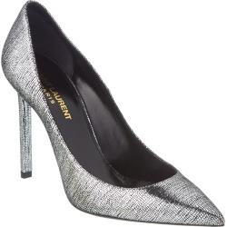Saint Laurent Zoe 105 Metallic Leather Pump found on Bargain Bro Philippines from Ruelala for $399.99