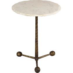 Orbital White Marble Side Table