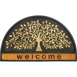 Welcome Tree Half-round Indoor/Outdoor Doormat found on Bargain Bro India from Gilt for $29.99