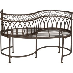 Safavieh Lara Kissing Bench found on Bargain Bro from Gilt City for USD $182.39