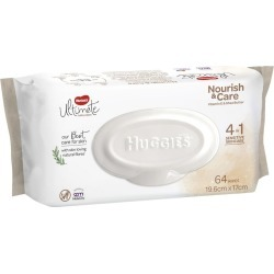 Huggies Baby Wipes - Nourish and Care - 64 Pack