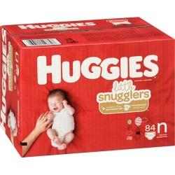 Huggies Little Snugglers Diapers, Size Newborn 84.0 Count