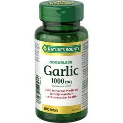 Natures Bounty Garlic Pills and Herbal Health Supplement, Helps Maintain Cardiovascular Health, 1000mg 100.0 Count found on Bargain Bro India from Beauty Boutique CA for $10.73