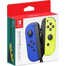 Nintendo Joy-Con L+R Blue/Neon Yellow 1.0 ea found on Bargain Bro Philippines from Beauty Boutique CA for $82.52