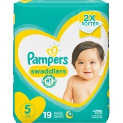 Pampers Pampers Swaddlers Diapers Size 5 19 Count 1.0 ea