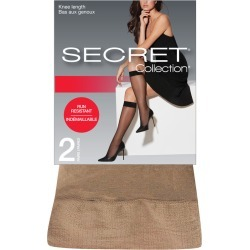 Secret Collection Sheer Knee Length Run-Resistant 2.0 Pair NUDE found on Bargain Bro from Beauty Boutique CA for USD $4.99