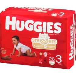 Huggies Little Snugglers Diapers, Size 3 26.0 Count